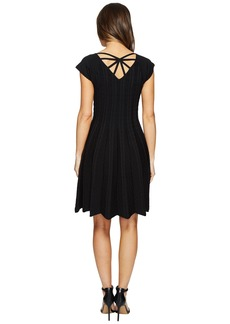 Hale Bob Piece of Work Knit Stretch Jacquard Fit and Flare Dress