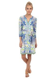 Hale Bob Psychedelic City Faux Wrap Dress