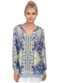 Hale Bob Psychedelic City Long Sleeve Blouse