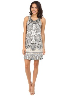 Hale Bob Punch Paisley Dress with Luxe Hand Beading