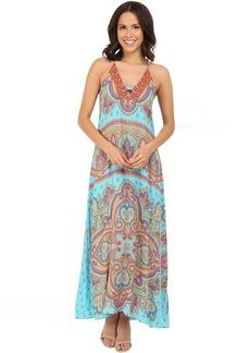 Hale Bob Punch Paisley Maxi Dress