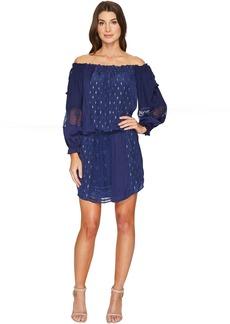 Hale Bob Sheer Genius Mix Rayon Satin/Silk Lurex Dot Dress