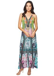 Hale Bob Sky High Microfiber Chiffon Maxi Dress