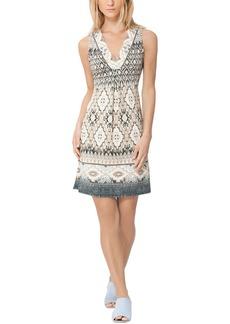 Hale Bob Sleeveless V Neck Mini Dress