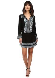 Hale Bob State of the Arts Crepe Dress with Embroidery