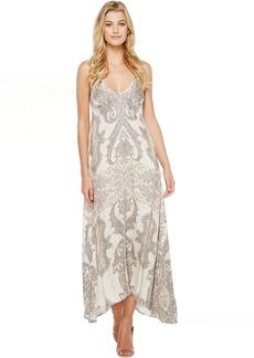 Hale Bob Sunny Spirit Rayon Strtech Satin Woven Maxi Dress