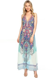 Hale Bob Supercharged Microfiber Chiffon Maxi Dress