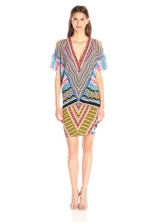 Hale Bob Women's Bold Geometry Cold Shoulder Dress