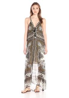 Hale Bob Women's Floral Fusion Halter Silk Maxi Dress