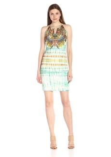 Hale Bob Women's Jungle Paradise Sleeveless Dress
