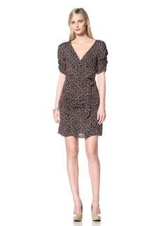 Hale Bob Women's V-Neck Dress with Ruching  L