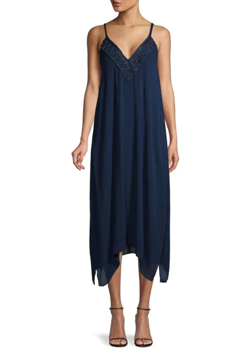 Hale Bob Handkerchief Hem Slip Dress