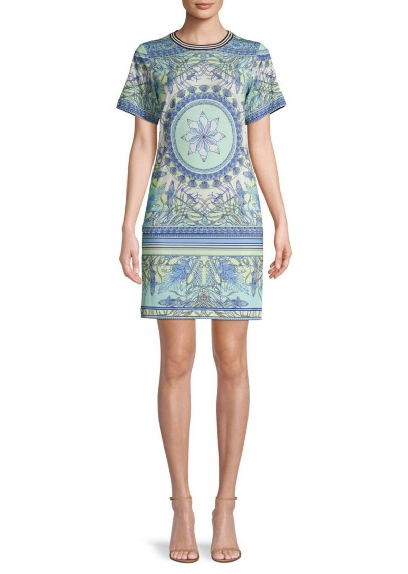 Hale Bob Mandala-Print Mini Sheath Dress