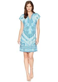 Hale Bob Modern Mosaic Microfiber Jersey Dress