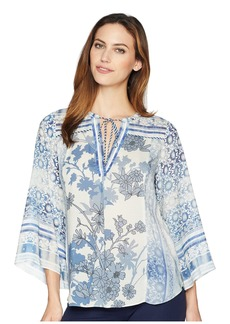 Hale Bob Moroccan Dreams Lightweight Rayon Dot Woven Top