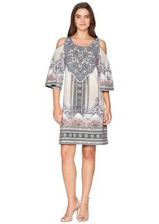 Hale Bob Night Blooms Matt Micro Fiber Jersey Dress