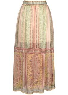 Hale Bob paisley print maxi skirt