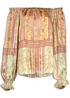 Hale Bob paisley print off-shoulder blouse