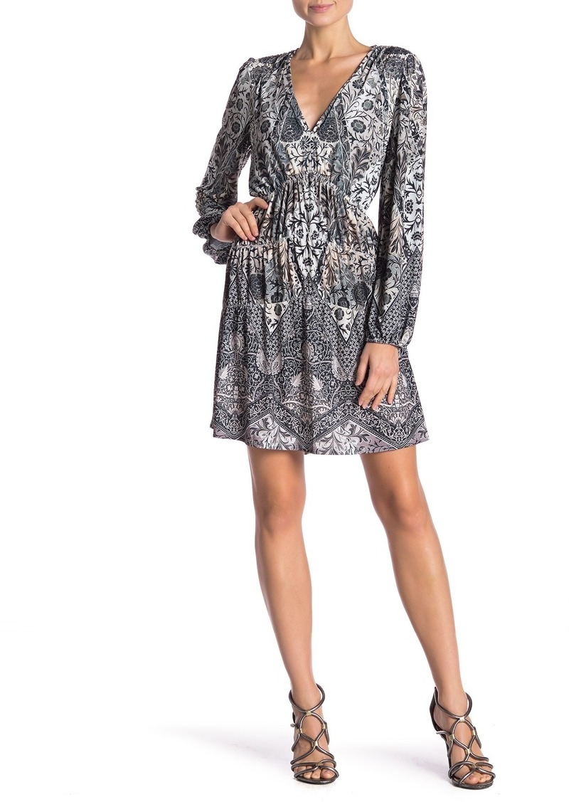 Hale Bob Patterned V-Neck Dress