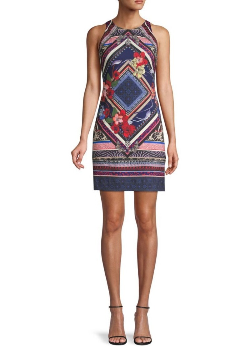 Hale Bob Printed Sleeveless Mini Dress