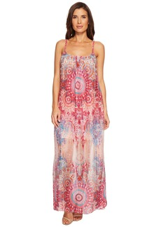 Hale Bob Room To Glow Lightweight Silk Habotai Maxi Dress