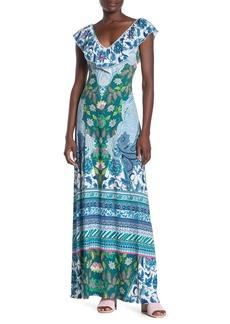 Hale Bob Ruffled Maxi Dress