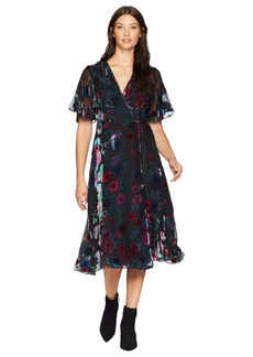 Hale Bob Sheer Bliss Silk/Rayon Velvet Burnout Margurite Dress
