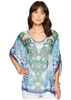 Hale Bob Simply Irresistible Washed Silk Chiffon Tunic Top