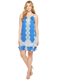 Hale Bob Summer League Rayon Stretch Woven Tie Dress