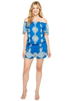 Hale Bob Summer League Rayon Woven Off Shoulder Romper