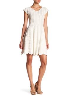 Hale Bob Textured V-Neck Dress