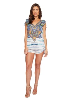 Hale Bob The Great Escape Satin Woven Romper