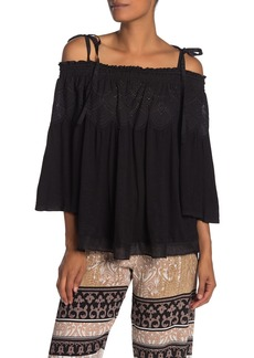 Hale Bob Tinsly Cold Shoulder Eyelet Yoke Tunic