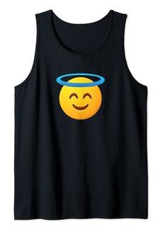 Halo Emoticon Inspired Religious Emoticon Related Smile Reli Tank Top