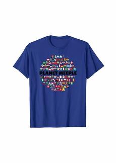 HALO Planet Meeple Black Text T-Shirt