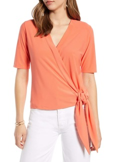 Halogen  Side Tie Wrap Top