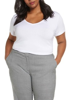 Halogen(R) V-Neck Tee (Plus Size) (2 for $48)