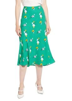 Halogen Bias Cut A-Line Midi Skirt (Regular & Petite)