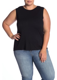 Halogen Crew Neck Hi-Lo Tank (Plus Size)