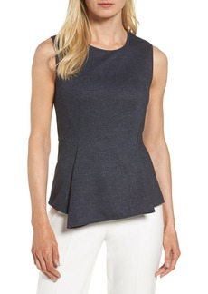 Halogen Denim Peplum Top