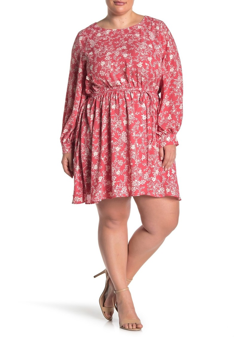 Halogen Garden Party Floral Print Dress (Plus Size)