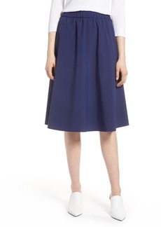 Halogen® A-Line Midi Skirt (Regular & Petite)