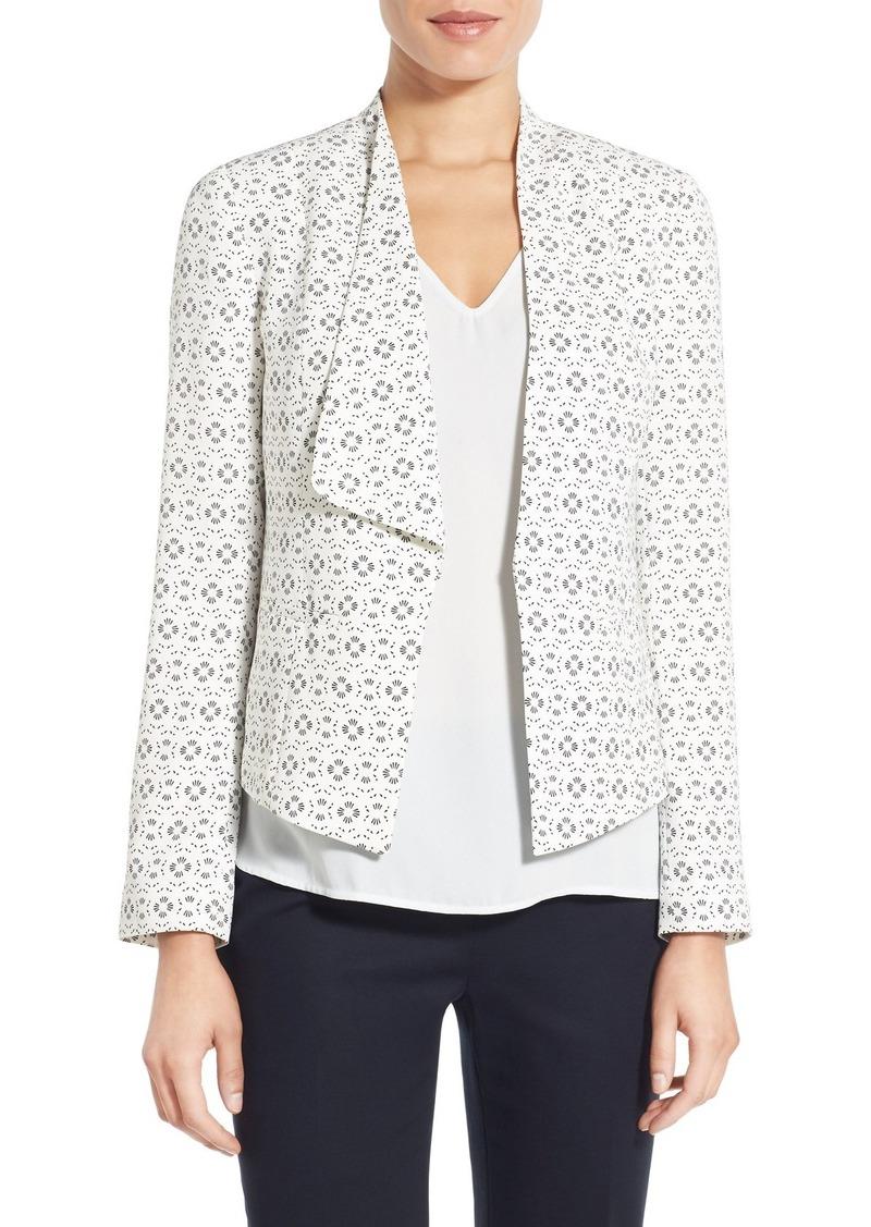 Halogen® Asymmetrical Drape Front Jacket (Regular & Petite)