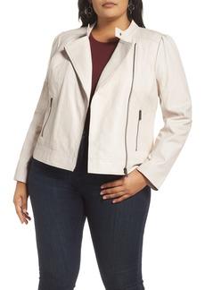 Halogen® Asymmetrical Front Zip Jacket (Plus Size)
