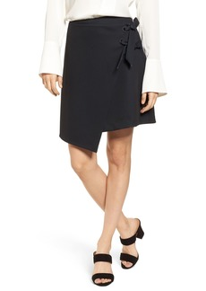 Halogen® Asymmetrical Grommet Tie Skirt (Regular & Petite)