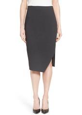 Halogen® Asymmetrical Hem Pencil Skirt