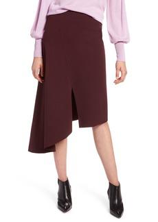 Halogen® Asymmetrical Ponte Skirt (Regular & Petite)