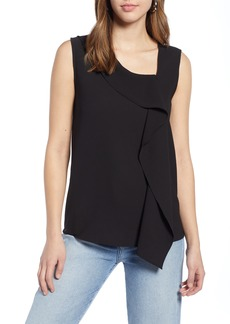 Halogen® Asymmetrical V-Neck Shell