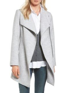 Halogen® Asymmetrical Zip Boiled Wool Blend Coat (Regular & Petite)