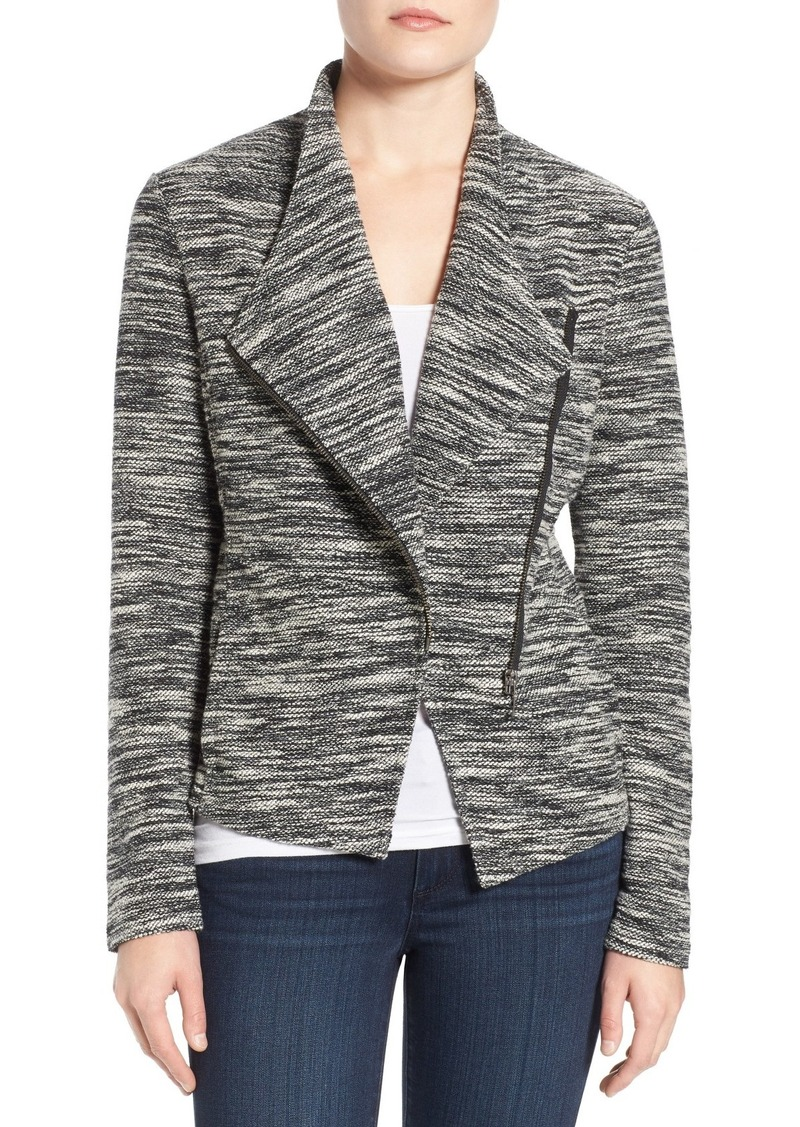 Halogen® Asymmetrical Zip Knit Jacket (Regular & Petite)